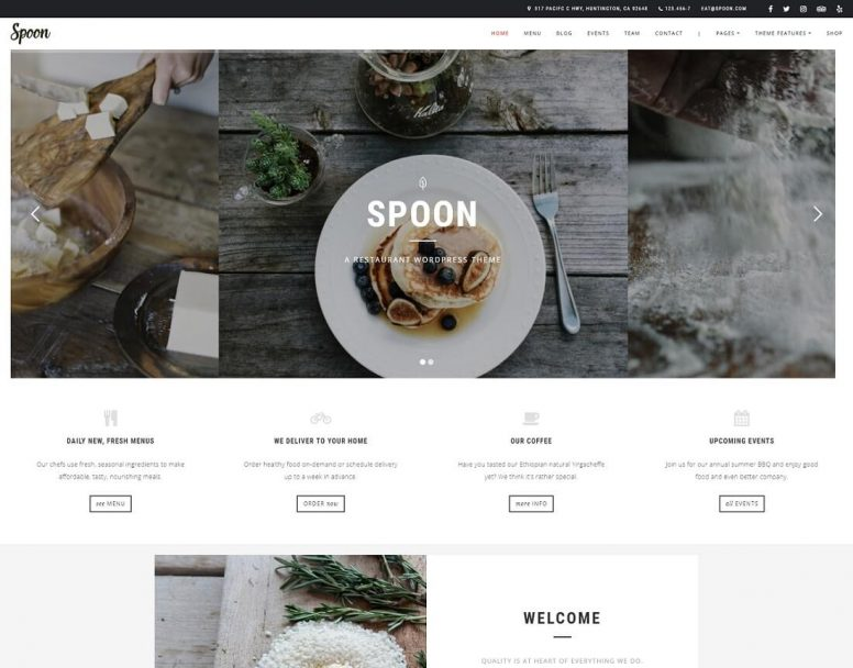 25 Best Food & Catering WordPress Themes 2018