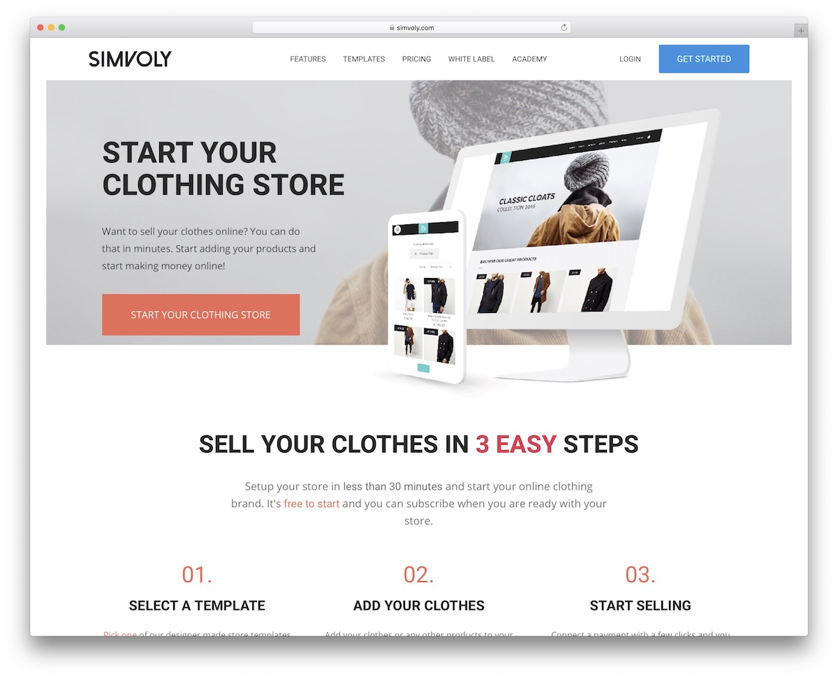 Clothing Website Builder