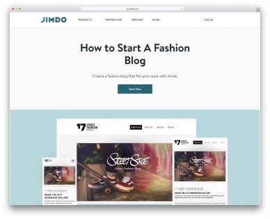 Fashion Website Builders