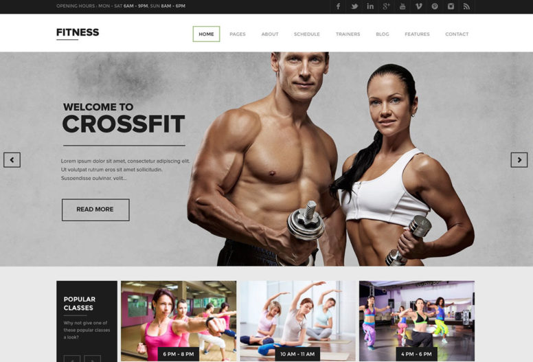 20+ Best WordPress Fitness Themes 2018 For Gym, Fitness Centers And Crossfit Groups