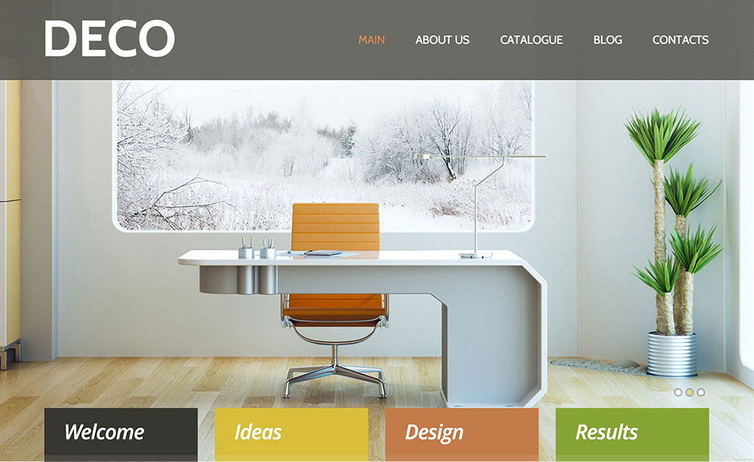 40 interior design wordpress themes that will boost your for Interior decorating ideas websites