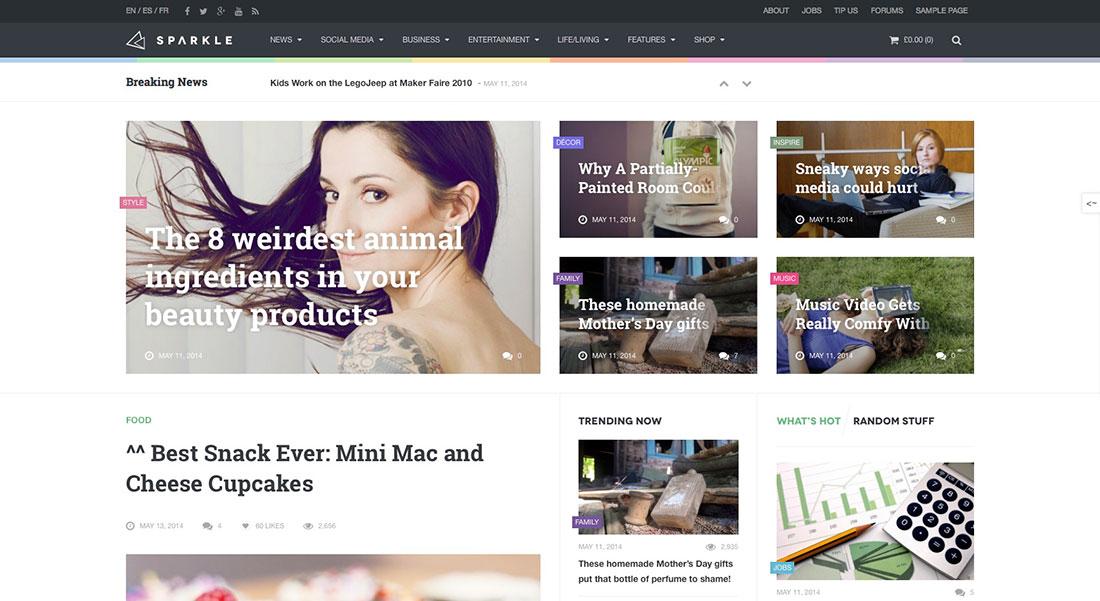 best magazine style websites