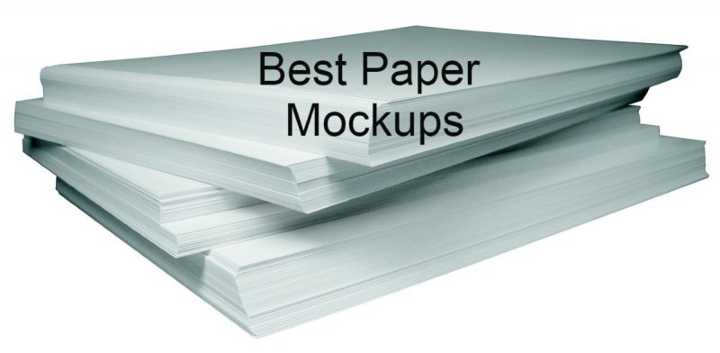 20 Best Paper Mockups For Graphic & Print Designers