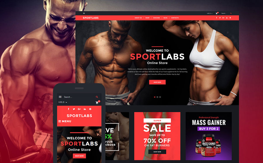 Sport Nutrition WooCommerce Theme