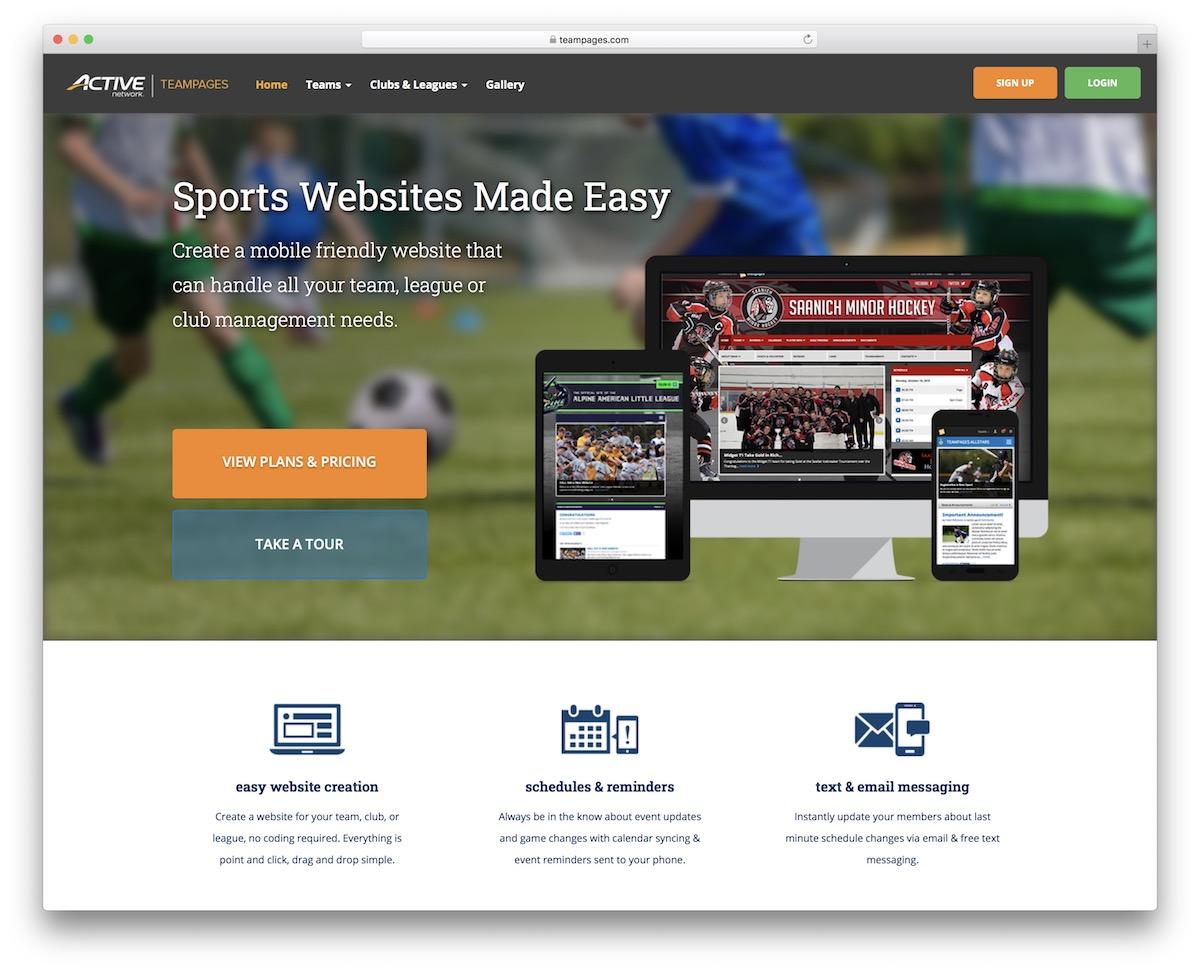 Sports Website Builders