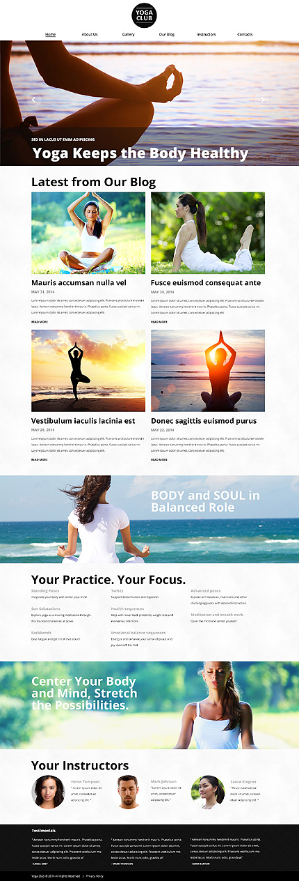 OpenAir Yoga Classes WordPress Theme