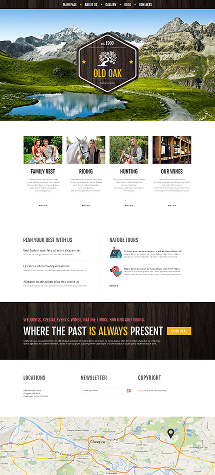 Favorable Ranch Location WordPress Theme