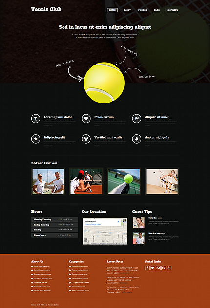 Tennis WordPress Theme