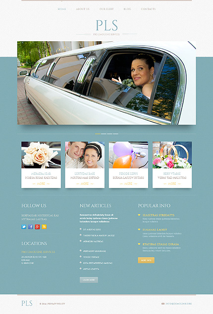 Limousine Services WordPress Theme