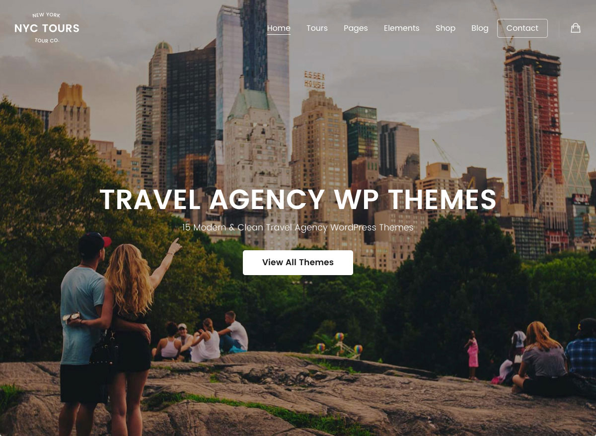 15 Modern & Clean Travel Agency WordPress Themes 2019