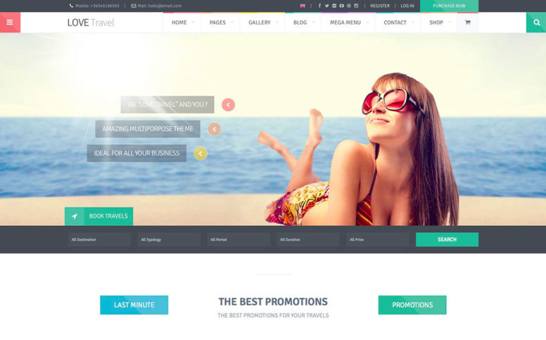 50+ Jaw-Dropping WordPress Travel Themes For Travel Agencies, Hotels, Hostels, Vacation Rentals, Travel Blogs And Journals 2017