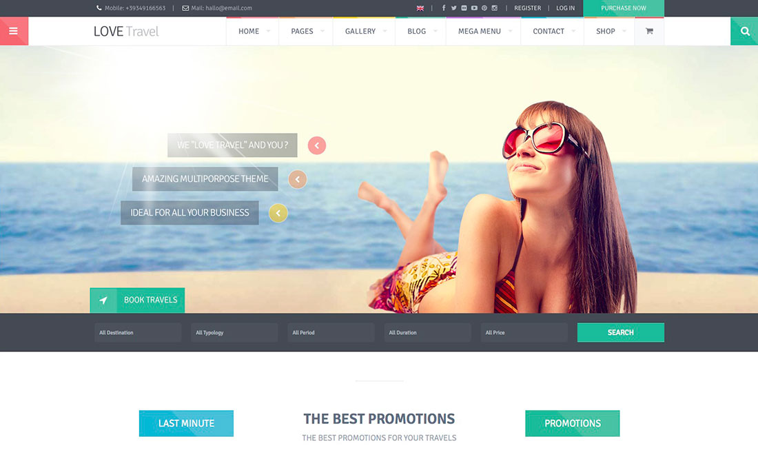 50+ Best WordPress Travel Themes For Blogs, Hotels and Agencies 2018 ...