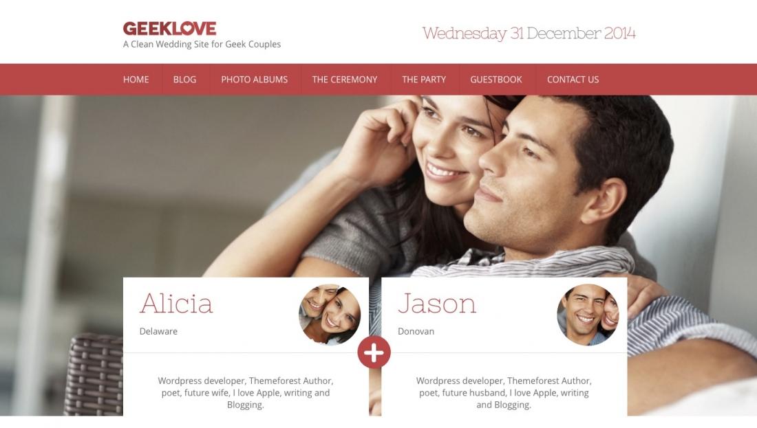 30+ Stunning & Responsive WordPress Wedding Events & Marriage Themes 2014