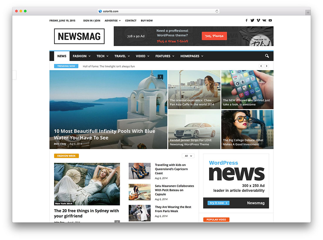 34 best wordpress newspaper themes for news sites 2018 for Create new template in wordpress