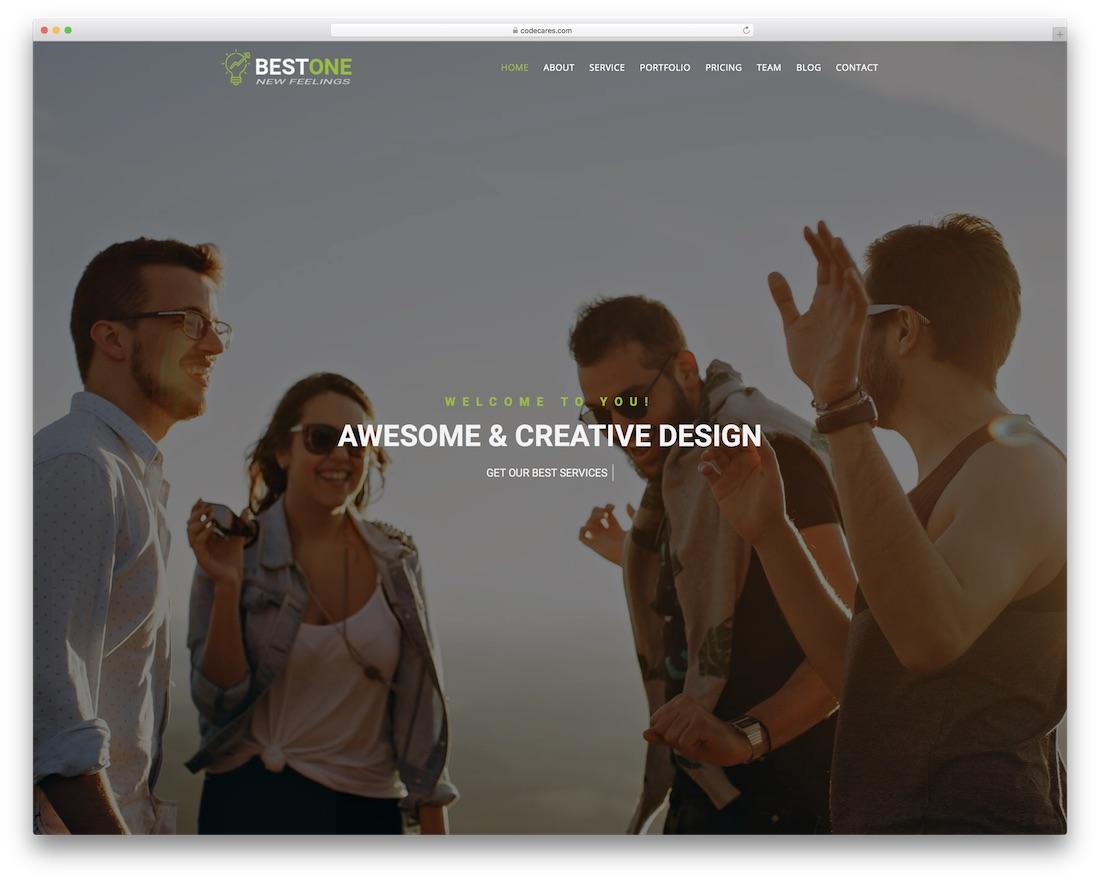 bestone beautiful website template