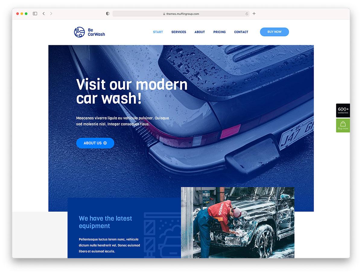BeTheme - car wash WordPress theme