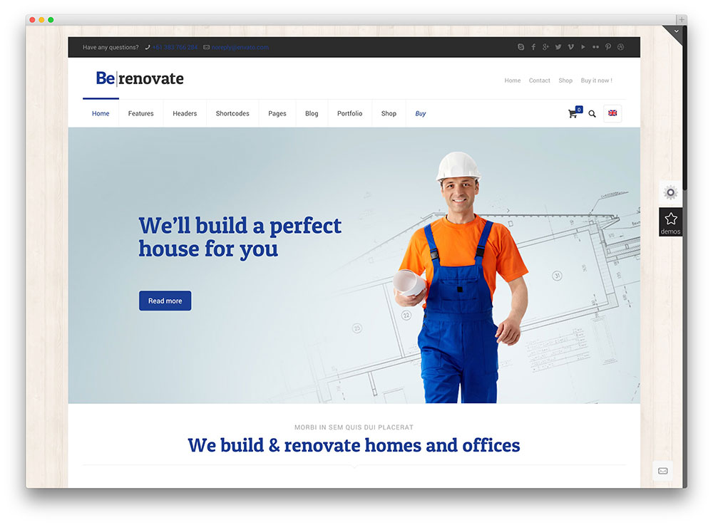 betheme building construction company wordpress theme