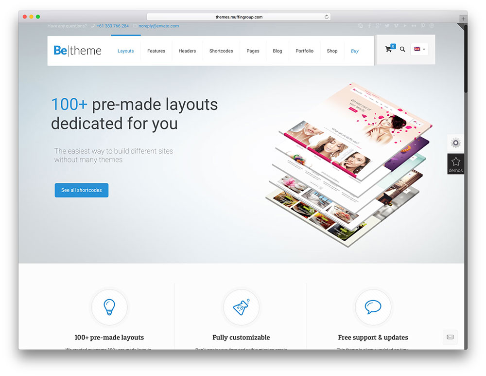 betheme multiconcept wordpress theme