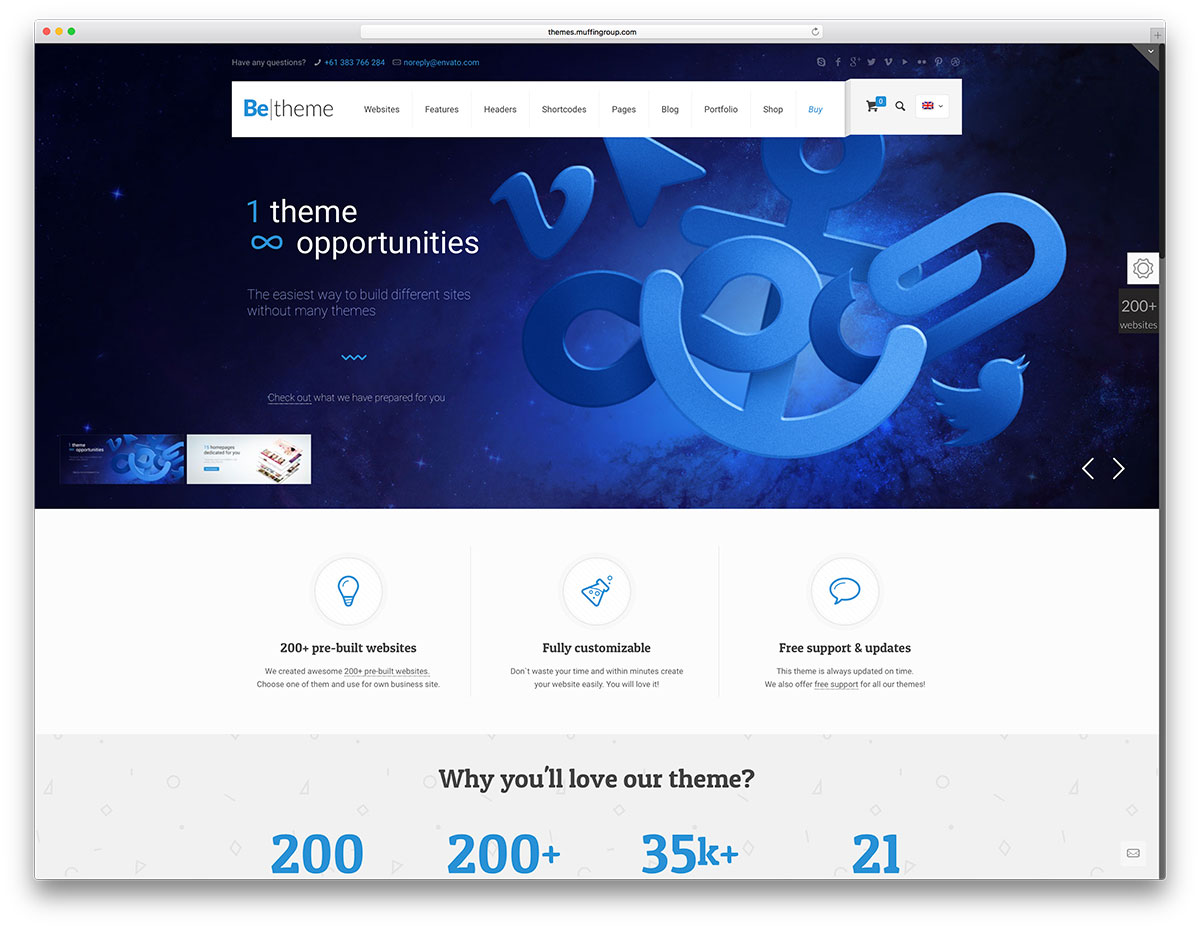 50 best wordpress corporate business themes of 2018 colorlib betheme mulipurpose wordpress business template flashek