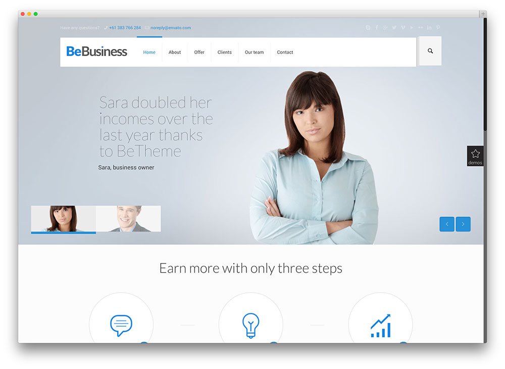 betheme popular business theme