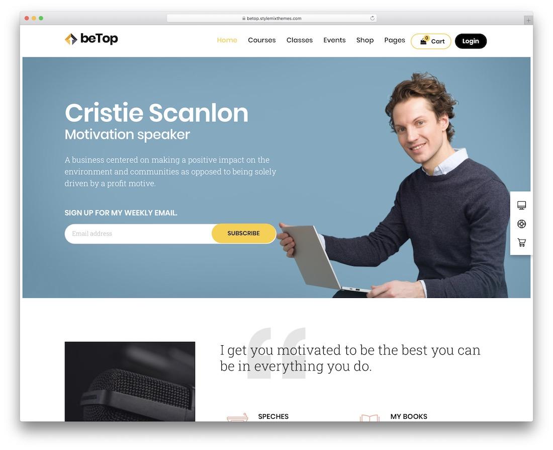 betop education wordpress theme