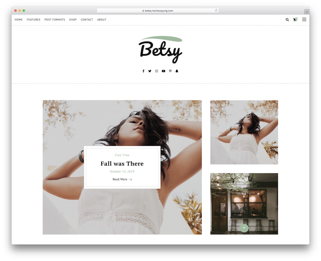 betsy lifestyle wordpress theme