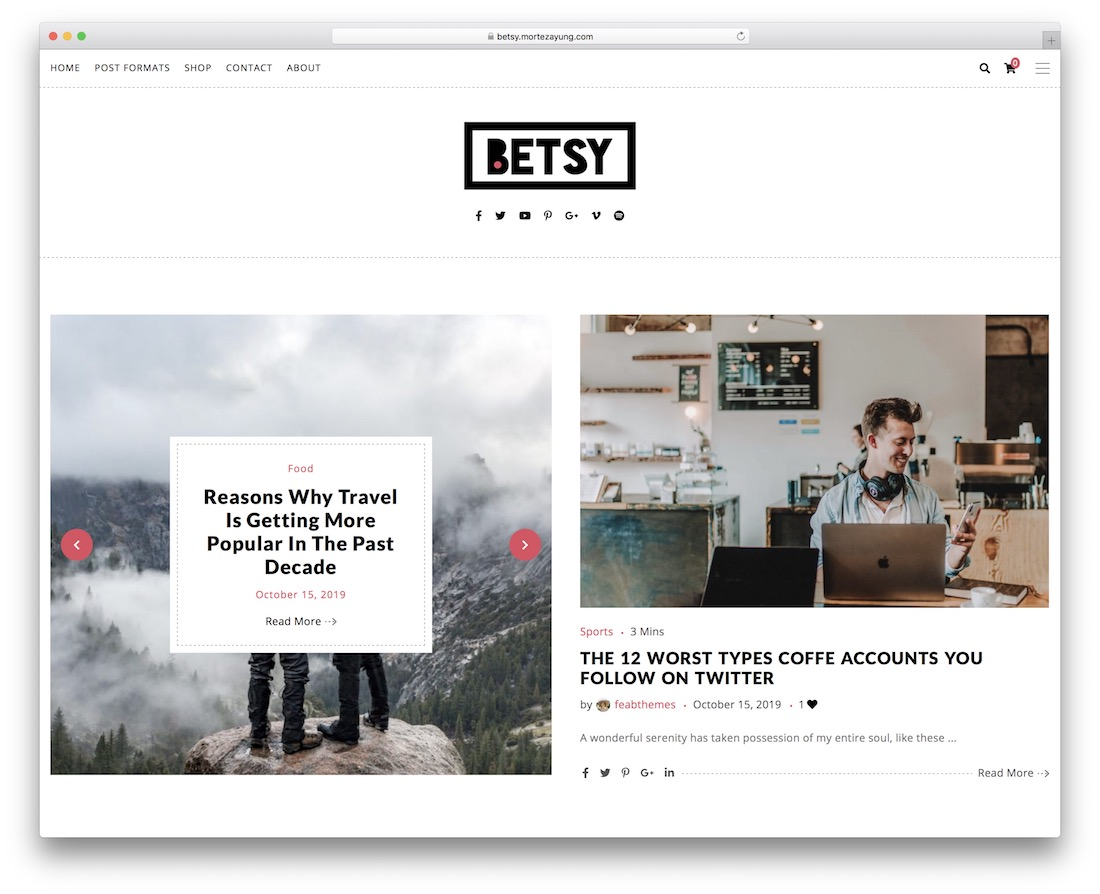 betsy travel magazine theme