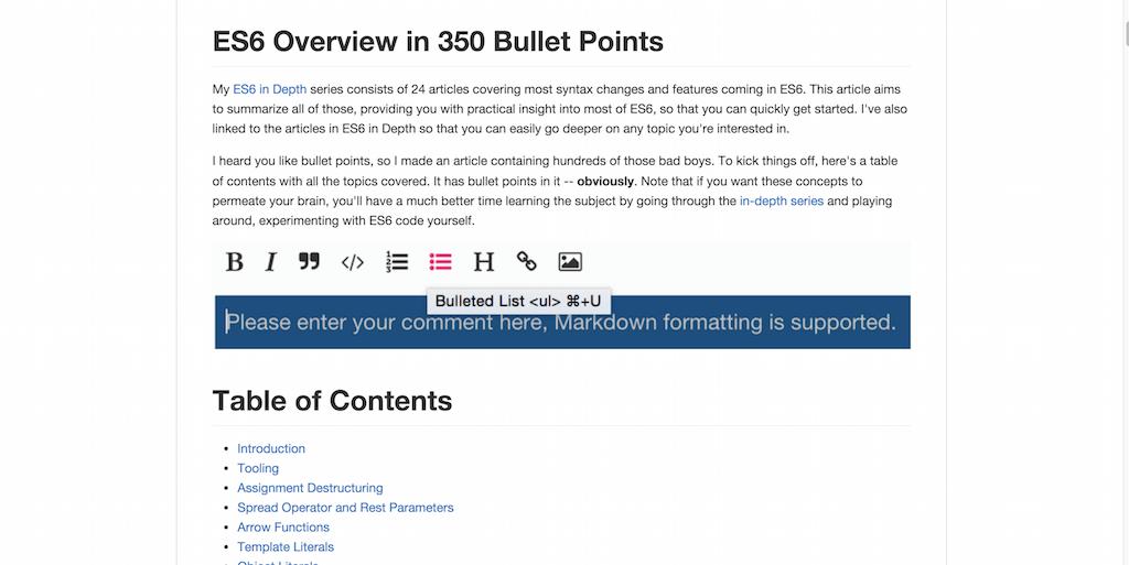 bevacqua es6 star2 ES6 Overview in 350 Bullet Points