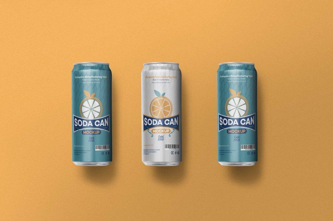 beverage can mockups