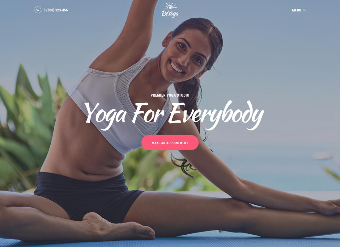 BeYoga - Yoga studio & Gym WordPress Theme