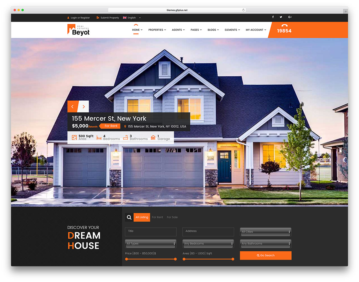 home decor websites sale 33 best real estate themes for agencies 11269