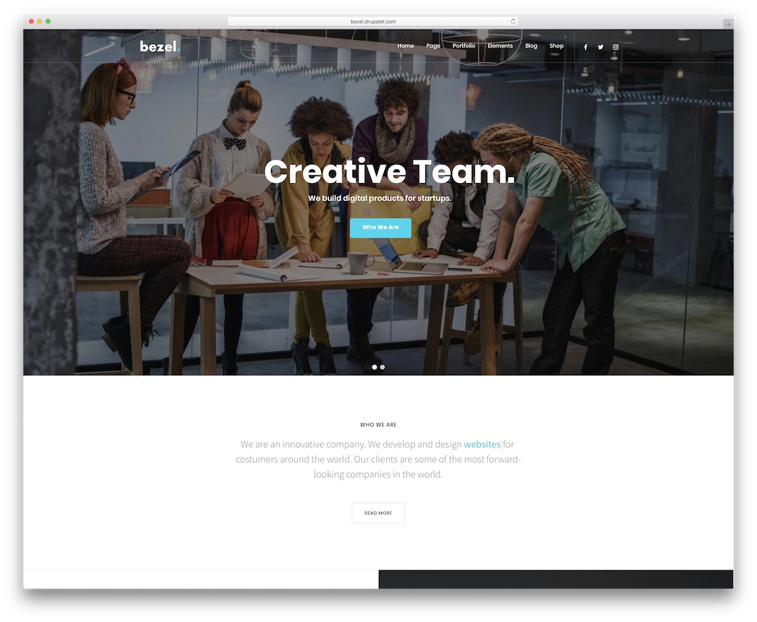 bezel drupal business template
