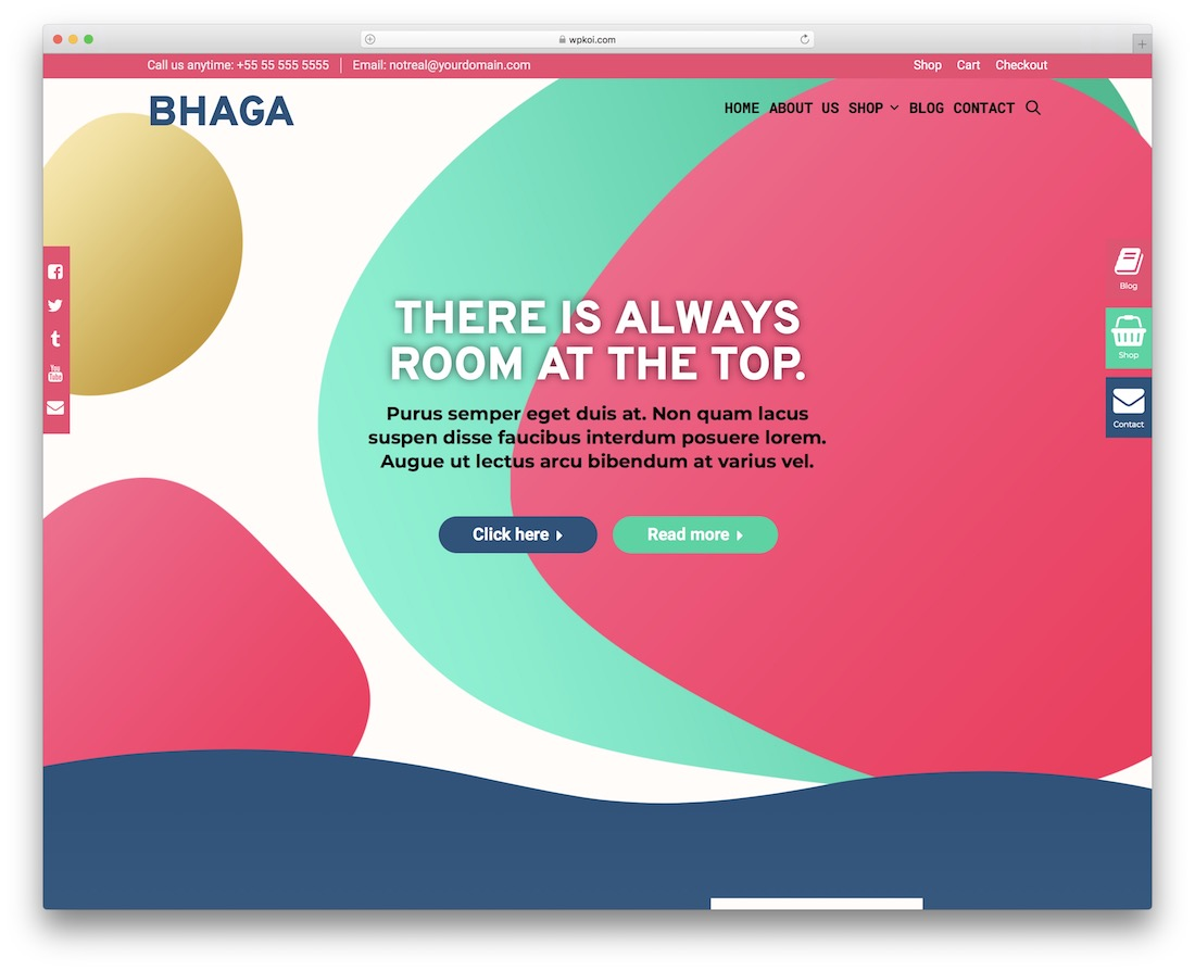 bhaga free multipurpose wordpress theme