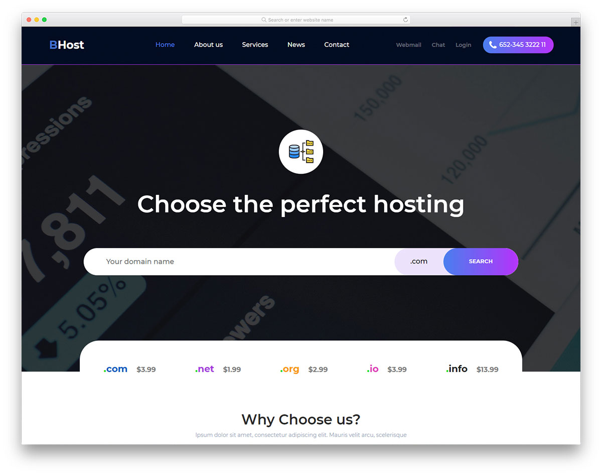 Bhost Free Template