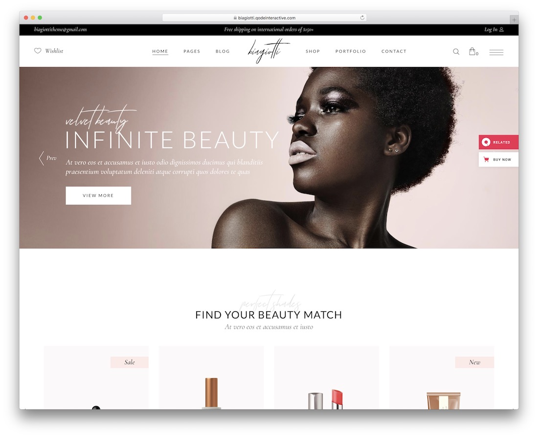 biagiotti ecommerce wordpress theme