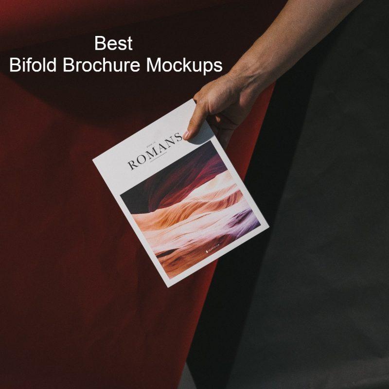 20 Bifold Brochure Mockups & Templates