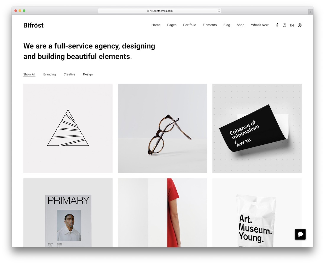 bifrost creative wordpress theme