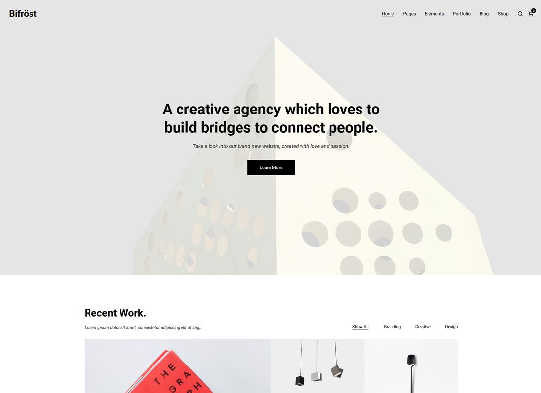 Bifrost | Simple Portfolio WordPress Theme