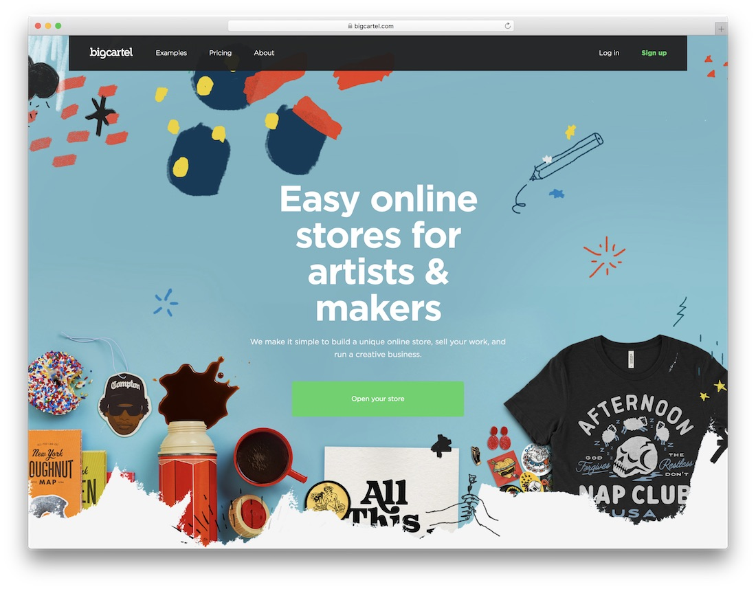 big cartel fashion website builder