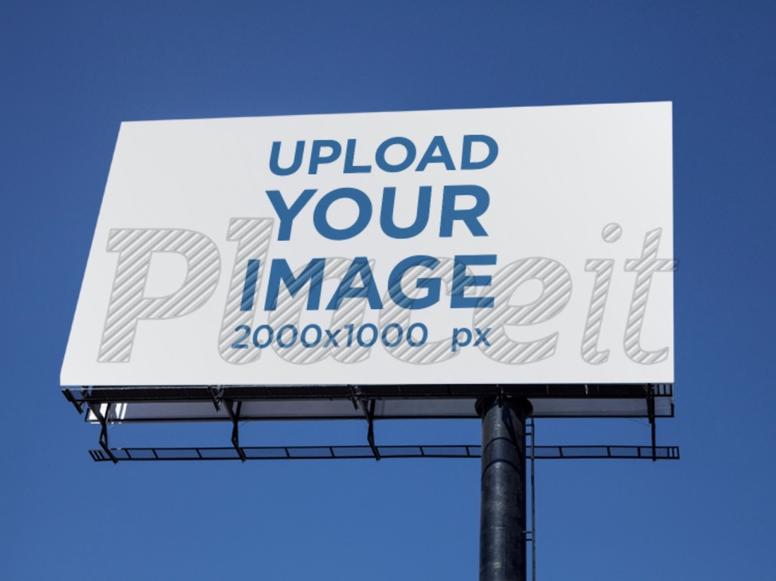 big outdoor billboard mockup