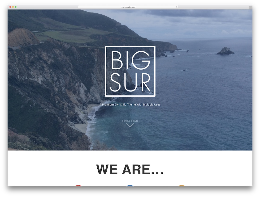 big sur responsive divi child theme