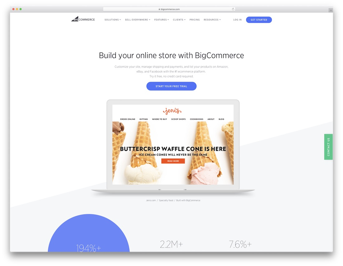 bigcommerce website builder for online clothing store