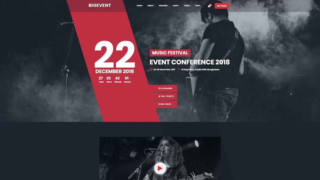 bigevent website template