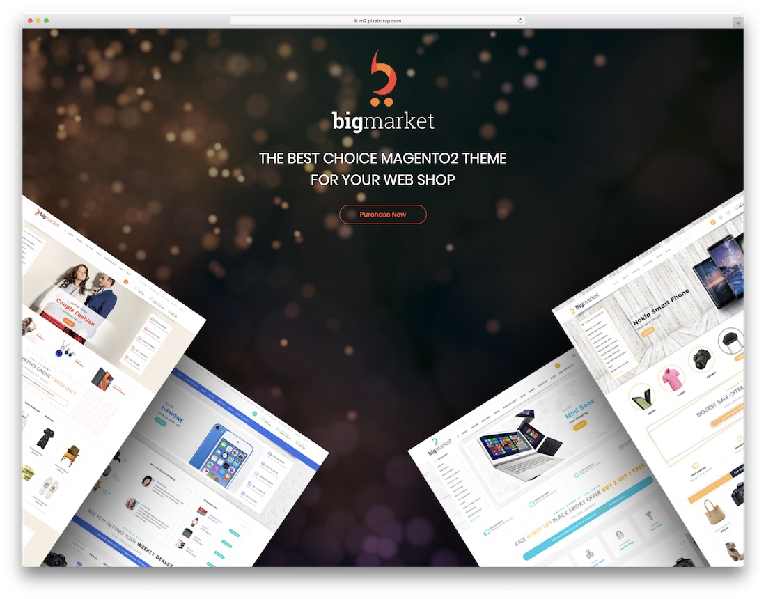 bigmarket magento technology theme