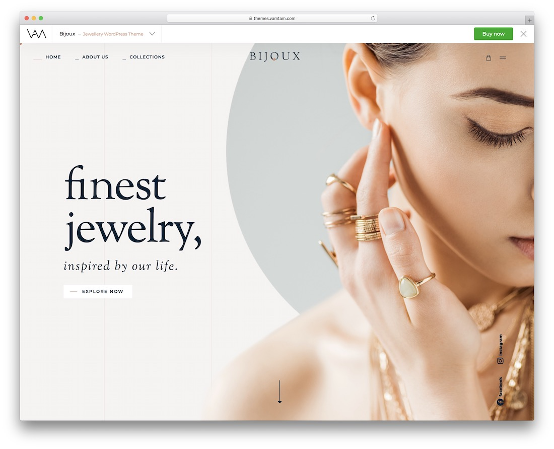 bijoux jewelry wordpress theme