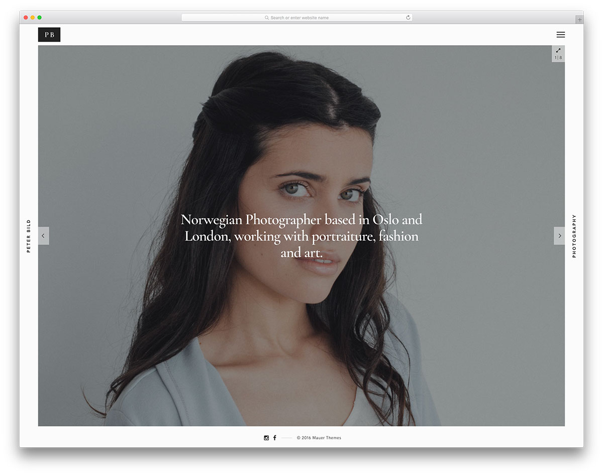Bild Is A WordPress Theme Oriented To Photography It Comes With 4 Homepages And Many Layouts For Portfolio Sliders You Will Get Strong