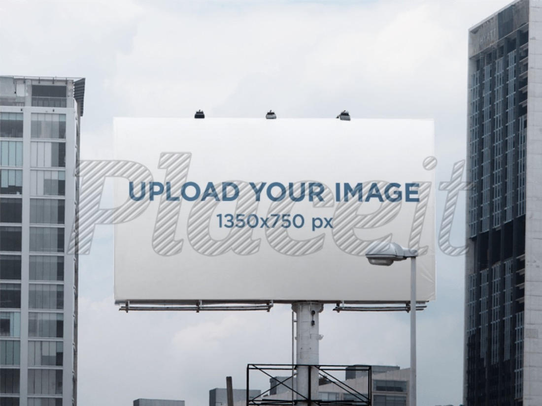 billboard mockup in a cityscape