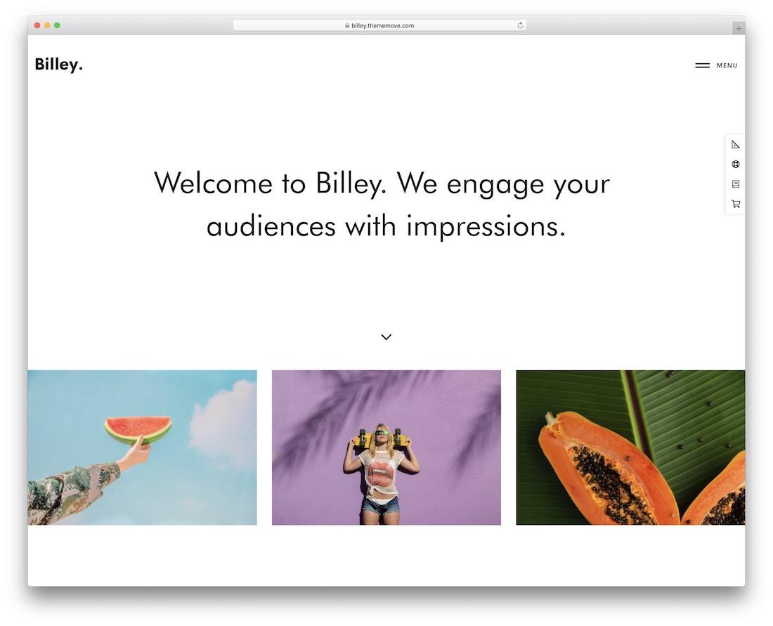 billey creative wordpress theme