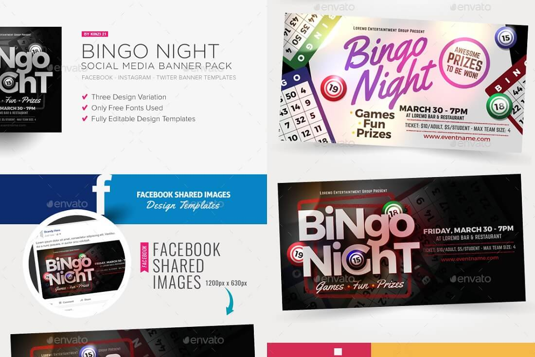 bingo night social media banner