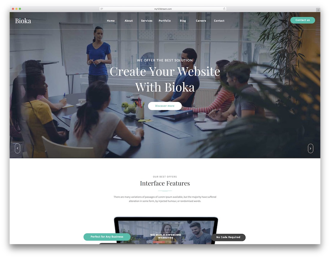 bioka adobe muse template